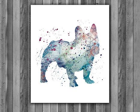 French Bulldog Dog art, Dog watercolor, French Bulldog Art Print, Dog Print, French Bulldog print, Dog poster Printable, Dog