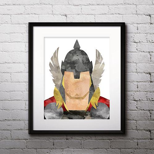 Thor Superhero Art, Watercolor Printable, Print, Painting, Home Decor, Wall Art Poster, buy poster, buy print