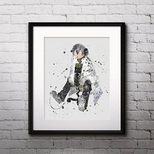 Dr Stein Anime Art Print Printable Watercolor poster Wall Decor painting