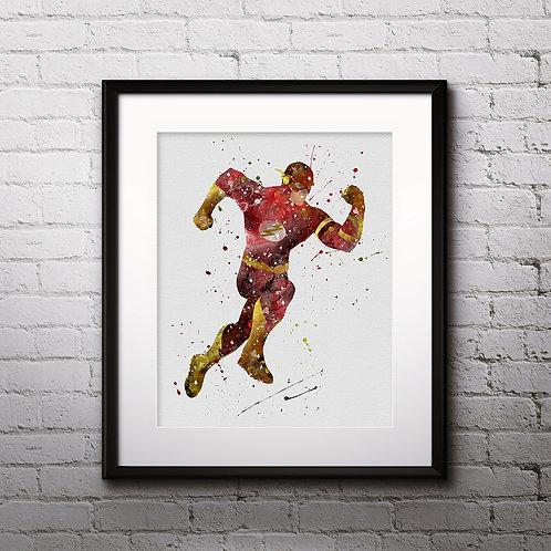 Flash superhero Art, Watercolor Printable, Print, Painting, Home Decor, Wall Art Poster, buy poster, buy print
