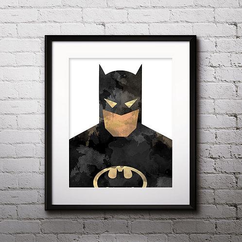 Batman Superhero Art, Watercolor Printable, Print, Painting, Home Decor, Wall Art Poster, buy poster, buy print