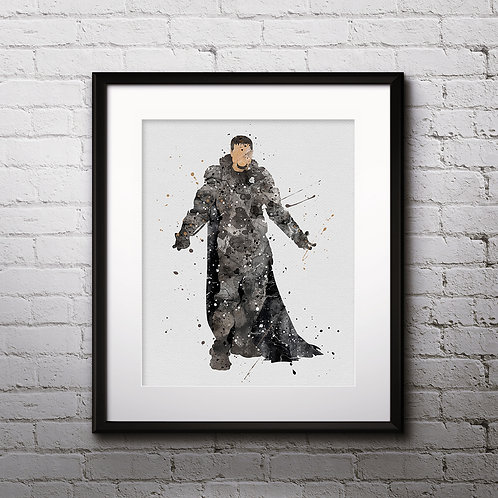 Dru-Zod supervillain DC Comics watercolor Printable Poster, Art Print, instant download, painting, Watercolor Print, Home Dec