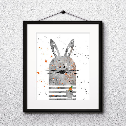 Bunny Nursery Art, Children Decor art, Nursery Poster, Nursery Painting, Nursery Art Print, Nursery Wall Art, Digital picture