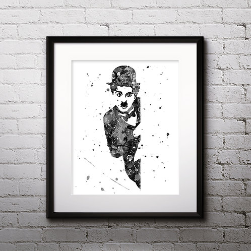 Charlie Chaplin Art Prints, Poster, watercolor, Painting, Art, Wall Art, Home Decor, Printables