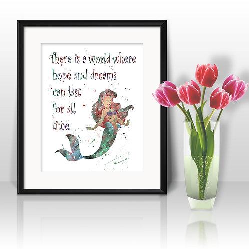 Disney princesses quotes art prints, Disney princesses wall art, Disney princesses watercolor painting, buy Disney princesses