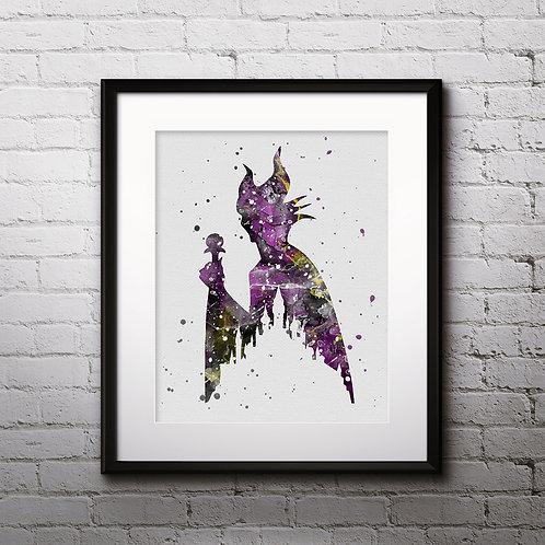 Maleficent Disney art prints, disney print, disney painting, disney art, Printable art, Disney Home Decor, Nursery Art