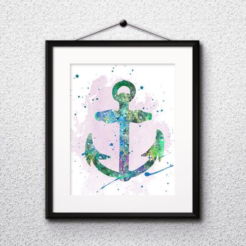 graphic regarding Printable Anchor identify Anchor Artwork Printable, get Artwork Print, get electronic picture, order watercolor
