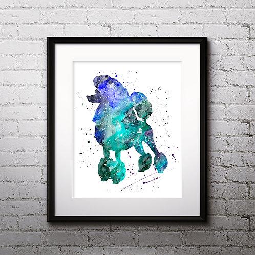 Poodle Art Print, dog watercolor Print, dog poster, dog Wall Art, dog Wall Decor, dog Art, Poodle dog art, Poodle dog