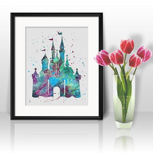Cinderella Castle Disney buy Poster, buy Watercolor, buy Disney Print, buy Disney Art, buy Disney Wall Art, Home Decor