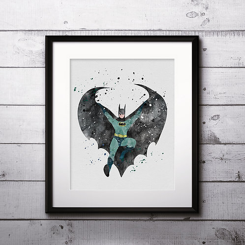 Superhero BatmanArt, Watercolor Printable, Print, Painting, Home Decor, Wall Art Poster, buy poster, buy print