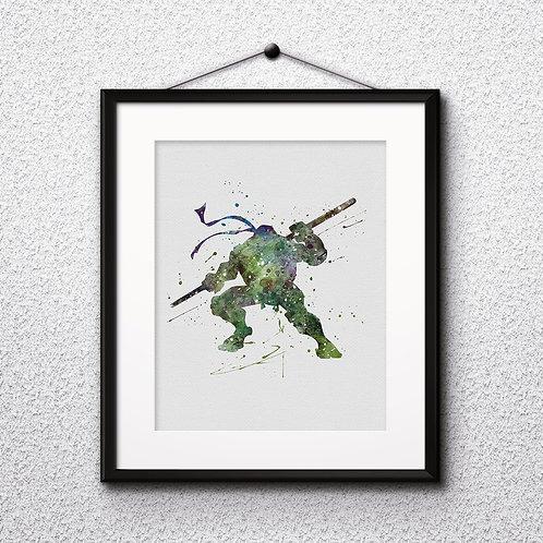 Ninja Turtles Instant Dowload, Ninja Turtles Watercolor, Ninja Turtles Art Print, Ninja Turtles Painting, Ninja Turtle Poster