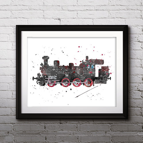 Train Print, Nursery Wall Art, Train Decor, Train Wall Art, Train Wall Decor, Train Nursery