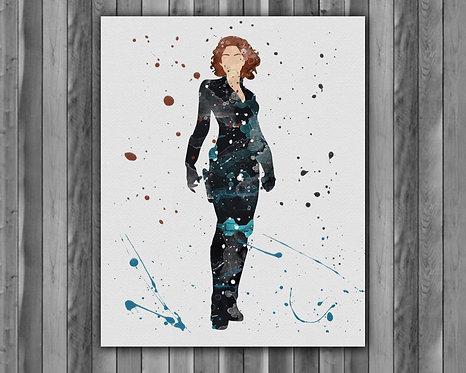 Avengers Black Widow - Scarlett Johansson - art prints, buy Posters, buy watercolor art, buy wall art, buy home decor
