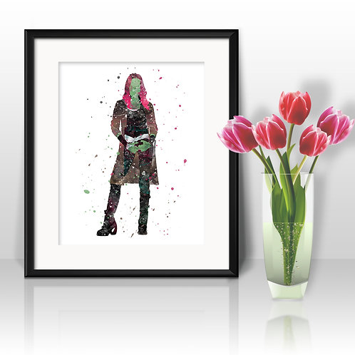 Gamora Guardians of the Galaxy Art Print, Poster, Watercolor Print, Wall Art, Painting