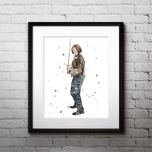 Arya Stark Print, Game of Thrones watercolor Art Print, instant download, Prints, poster, Wall Art