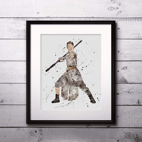 Star Wars Rey, Art, Print, nursery, poster, wall art decor, room decor