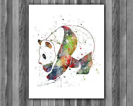 Panda Animals art, Animals print, Panda poster, Panda painting, Animals printables, Panda instant download