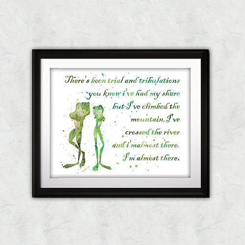 Quote from Princess Tiana poster, The Princess and the Frog DISNEY - watercolor, Art Print, instant download, Watercolor