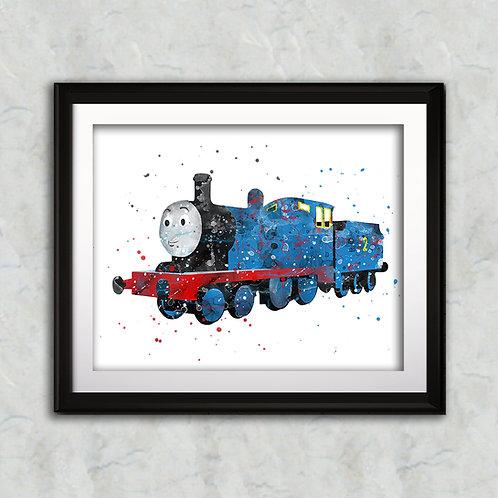 Edward - Thomas the Tank nursery art print, Wall Art, Poster,  Painting, Home Decor, Watercolor Print, Watercolour Print