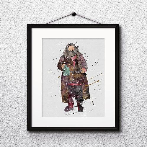 Hagrid Harry Potter Art, Harry Potter Poster, Harry Potter Painting, Harry Potter Art Print, Harry Potter Wall Art, Hagrid