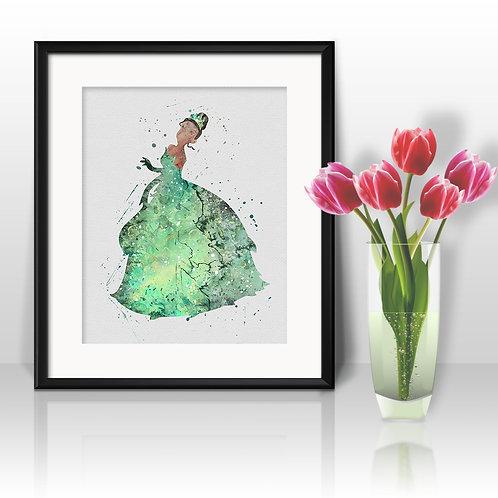 Princess Tiana Disney printables Painting, Tiana Disney art Print, Princess Poster, Disney wall art, Princess Disney art