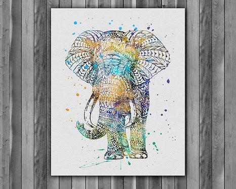 Elephant Boho prints, Elephant Boho image, Elephant Boho art prints, Elephant Boho posterts, Elephant Boho illustration