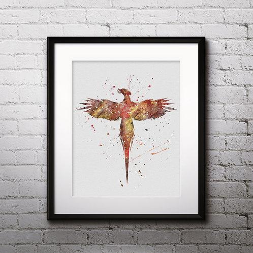 Phoenix Harry Potter Art, Harry Potter Poster, Harry Potter Painting, Harry Potter Art Print, Harry Potter Wall Art, Phoenix