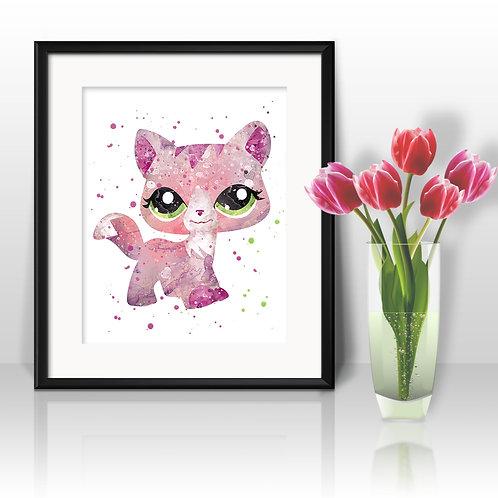 Littlest Pet Shop Art Prints, Posters, Watercolor Art, Wall art, home decor, Printable Art, Art Prints, Painting