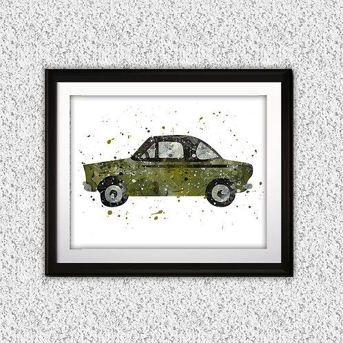 Car Print, Car Print, Transportation Print, Teenager Decor, Printable Car, Vehicle Art, Big Boy Girl Room Decor, Vintage Car