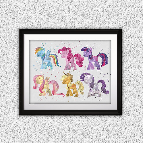 My LittlePony Art, My LittlePony Poster, My LittlePony Painting, My LittlePony Wall Art, My LittlePony art print