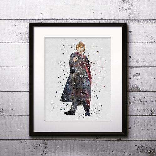 Ronald Weasley Harry Potter Art, Harry Potter Poster, Harry Potter Painting, Harry Potter Art Print, Harry Potter Wall Art