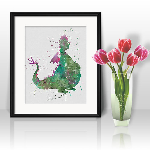 Disney Print Pete's Dragon, Art, Print, nursery, poster, wall art, home decor
