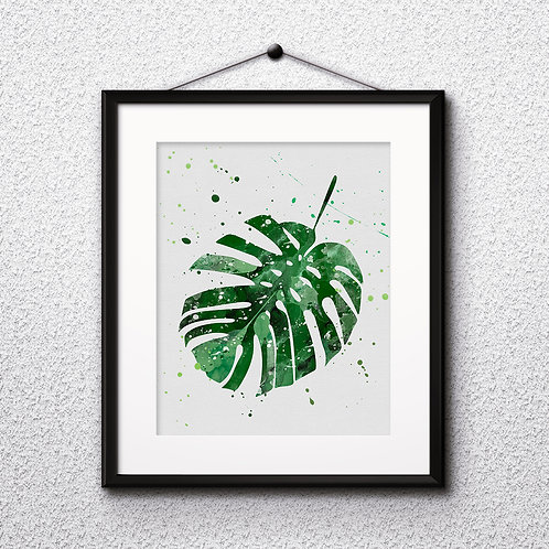 Tropical Leaves art, Tropical art Prints, Tropical Posters, Tropical watercolor, Tropical home decor, Tropical wall art