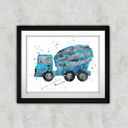 Truck Art Print, Nursery Wall Art, Truck Decor, Truck Wall Art, Truck Wall Decor, Truck Nursery