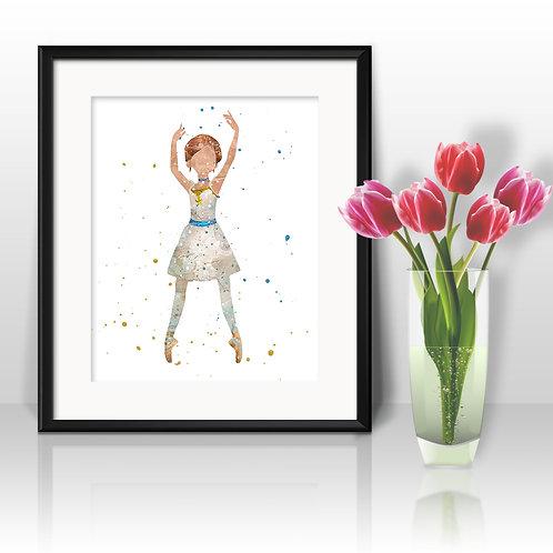 Ballerina Art Prints Instant Download Printable Watercolor Art Nursery Prints Painting Poster Home Decor Wall Art