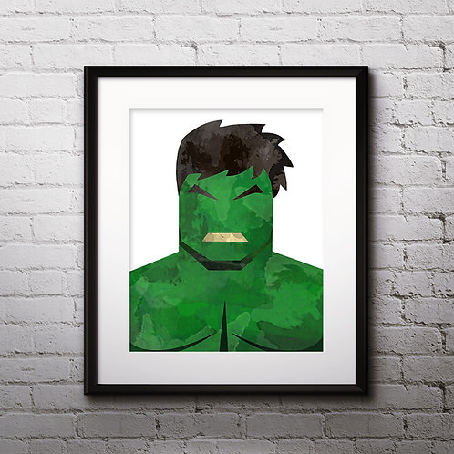 Hulk Superhero Art, Watercolor Printable, Print, Painting, Home Decor, Wall Art Poster, buy poster, buy print