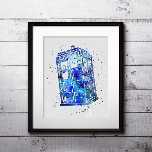 Traidis Doctor Who Art, Watercolor Printable, Print, Painting, Home Decor, Wall Art Poster, buy poster, buy print