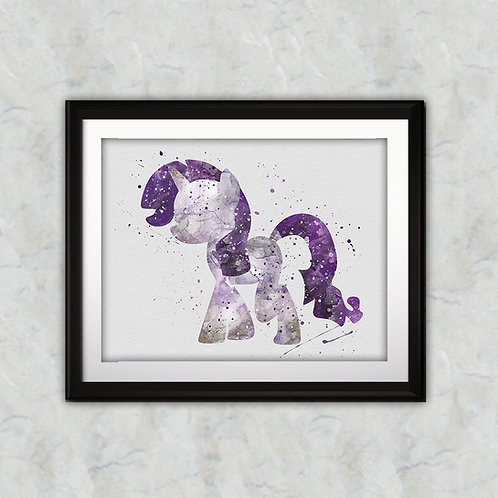 Pony Rarity Printable art, My Little Pony Art, My Little Pony Poster, My Little Pony Painting, My Little Pony art print