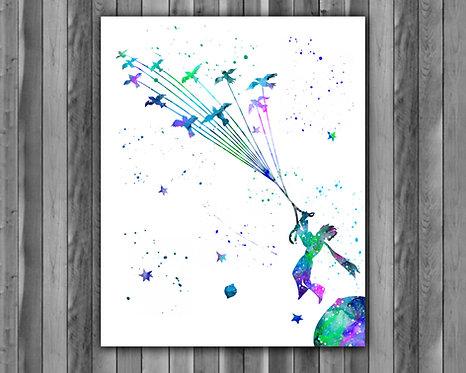 Little Prince Art, Little Prince Poster, Little Prince Painting, Little Prince Art Print, Little Prince wall Art