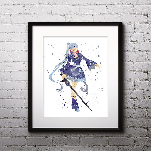 White Hair RWBY Anime art, buy Poster, byu Painting, buy Art Print, buy home decor, buy Wall Арт, Digital pictures download
