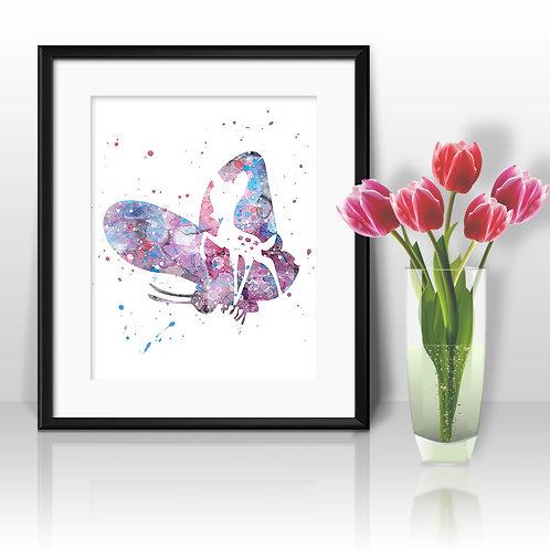 Bambi Disney art prints, disney print, disney painting, disney art, Printable art, Disney Home Decor, Nursery Art