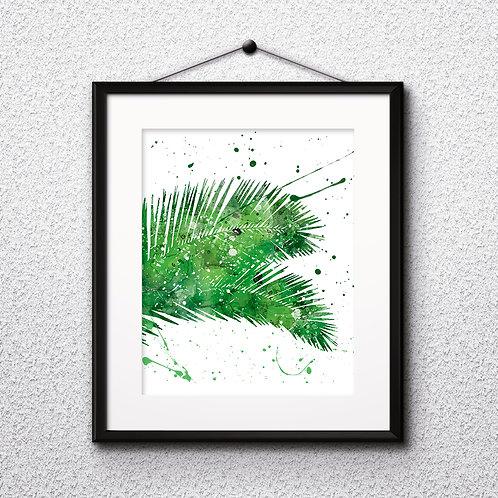 Tropical Leaves art, Tropical art Prints, Tropical Poster, Tropical home decor, Tropical wall art, Tropical watercolor