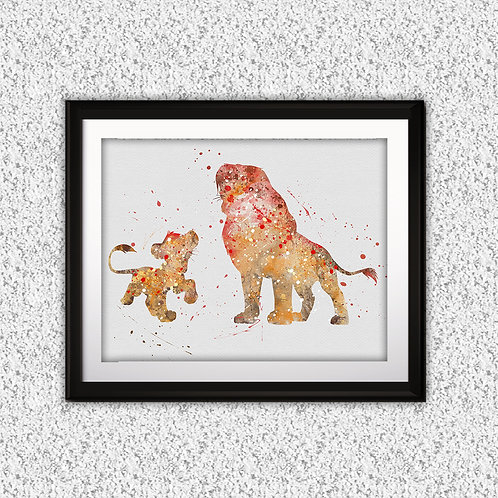 The Lion King Disney art, Disney Poster, Disney Painting, Disney Art Print, Disney home decor, Disney Decor, Disney wall art