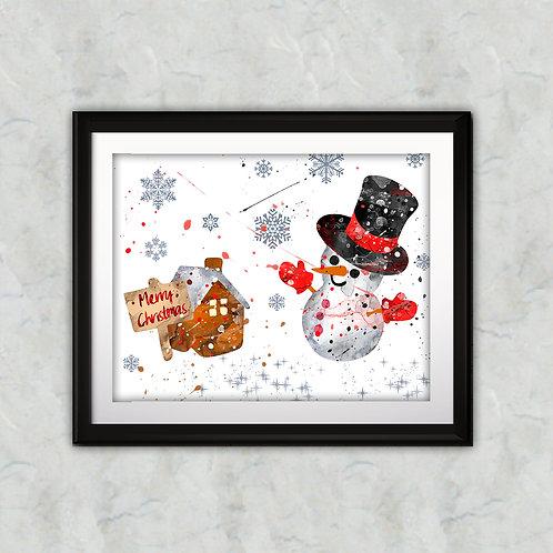 Christmas Art Printable, Holidays Art, buy Art Print, buy digital image, buy art, buy watercolor, buy painting, buy wall art,