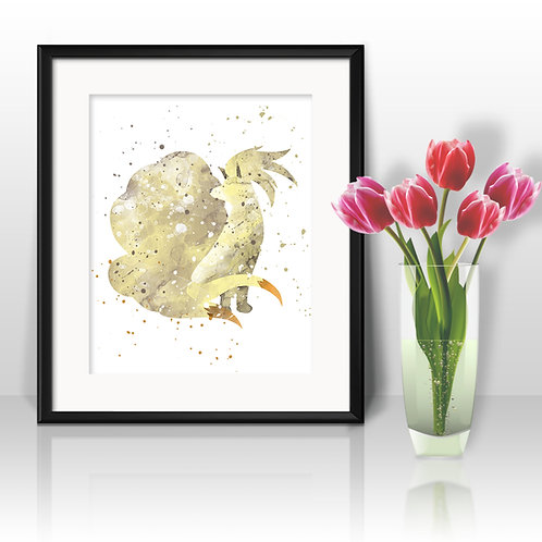 Ninetails Pokemon art Prints, Pokemon Posters, Pokemon watercolor, Pokemon wall art, Pokemon home decor