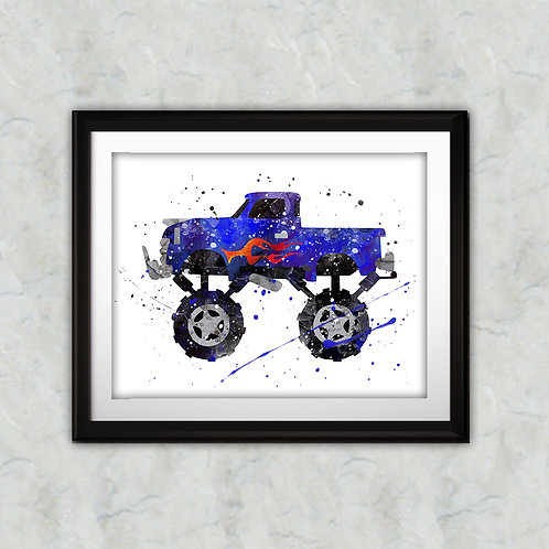 Jeep Cars Art Prints Painting Poster Wall Art watercolor Home art Nursery Art Children Wall Art Decor