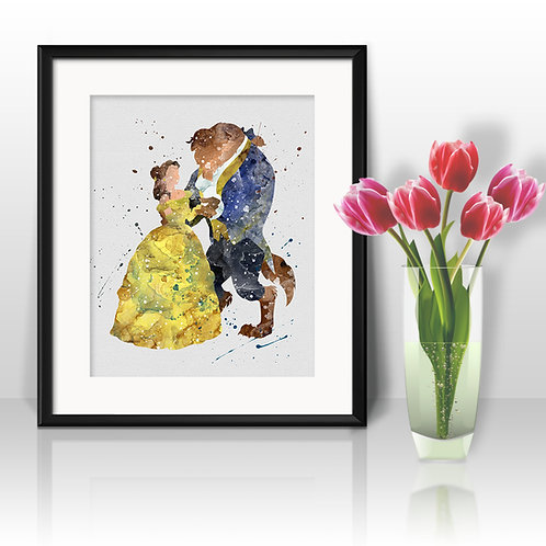 Belle and Beast Disney Art, Belle Poster, Belle Painting, Belle Art Print, Belle Wall Art, Belle Home Decor, Belle art