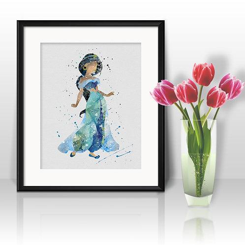 Princess Jasmine Disney Art, Princess Jasmine Poster, Princess Jasmine Painting, Princess Jasmine Art Print, Princess Jasmine
