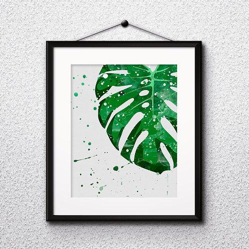 Tropical Leaves art, Tropical art Prints, Tropical Posters, Tropical watercolor, Tropical home decor, Tropical wall art