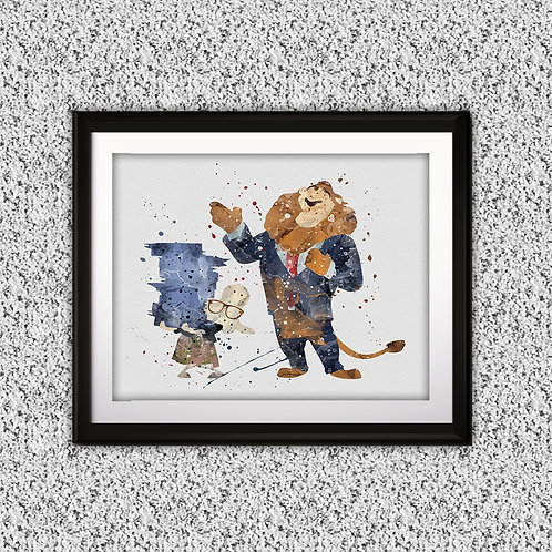 Zootopia Disney art, Disney Poster, Disney Painting, Disney Art Print, Disney home decor, Disney Decor, Disney wall art